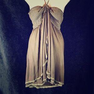 Free People Vintage Smocked Halter Dress, Large
